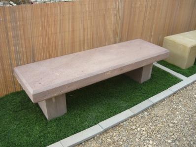 bancos de piedra natural para exteriores y jardines