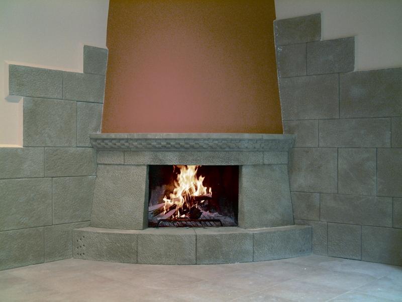 Chimeneas revestidas en piedra natural - Revestimiento de chimeneas modernas ...
