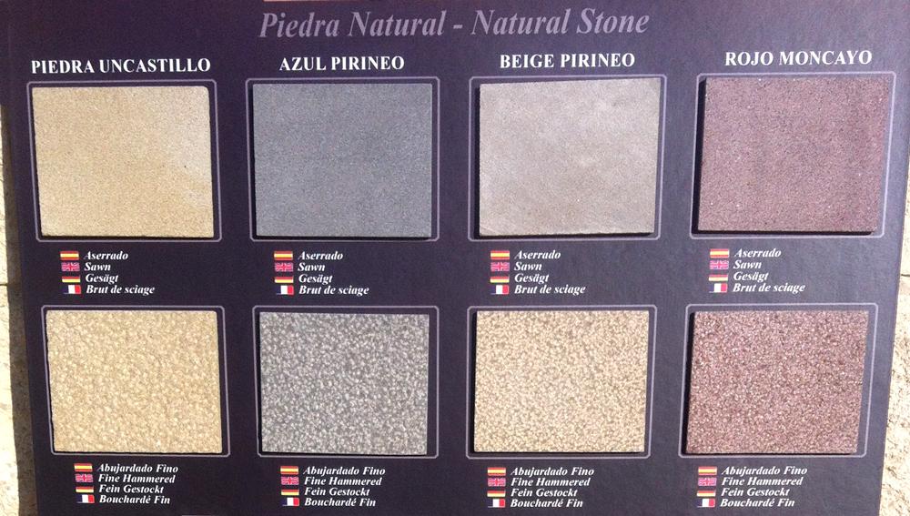 Los colores de la piedra natural arenisca for Colores de piedras de granito natural