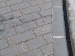 Bordillos utilizados en los remates de aceras