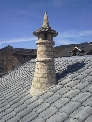 Chimenea tradicional del Pirineo, Piedra Arenisca Uncastillo