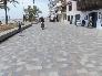 Adoquín combinado: piedra Rojo Moncayo, Azul Pirineo, Gris Moncayo y Beige Pirineo