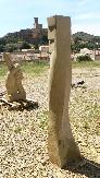 Escultura en piedra Arenisca Uncastillo