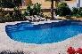 Pavimento exterior de piedra para piscina