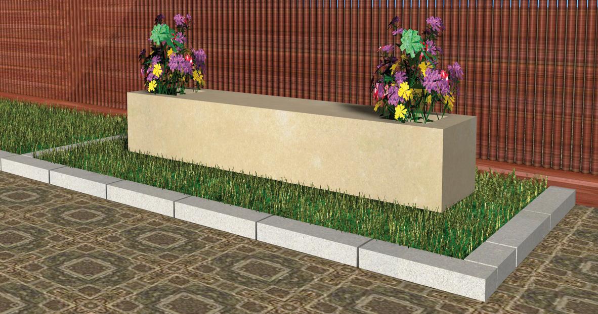 Banco modelo roma - Piedras para jardineras ...