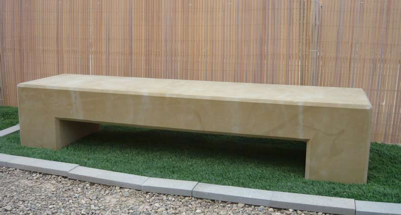 Banco de piedra modelo planilla for Precio piedras jardin