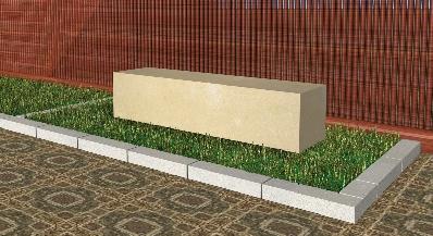 Recreación de banco modelo Roma en piedra arenisca de Uncastillo