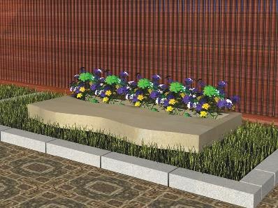 Recreación de banco modelo Falangra en piedra Arenisca de Uncastillo