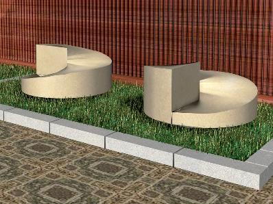 Recreación de banco modelo Venus en piedra Arenisca de ncastillo