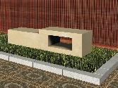 Recreación de banco modelo Jordan en piedra Arenisca de Uncastillo
