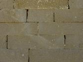Taco cizallado en piedra arenisca de Uncastillo
