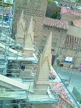 Trabajos de restauración de la Catedral de Tarazona
