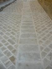 Pavimento en piedra arenisca Uncastillo