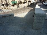 Piedra Gris Moncayo en las calles de Vitoria-Gasteiz
